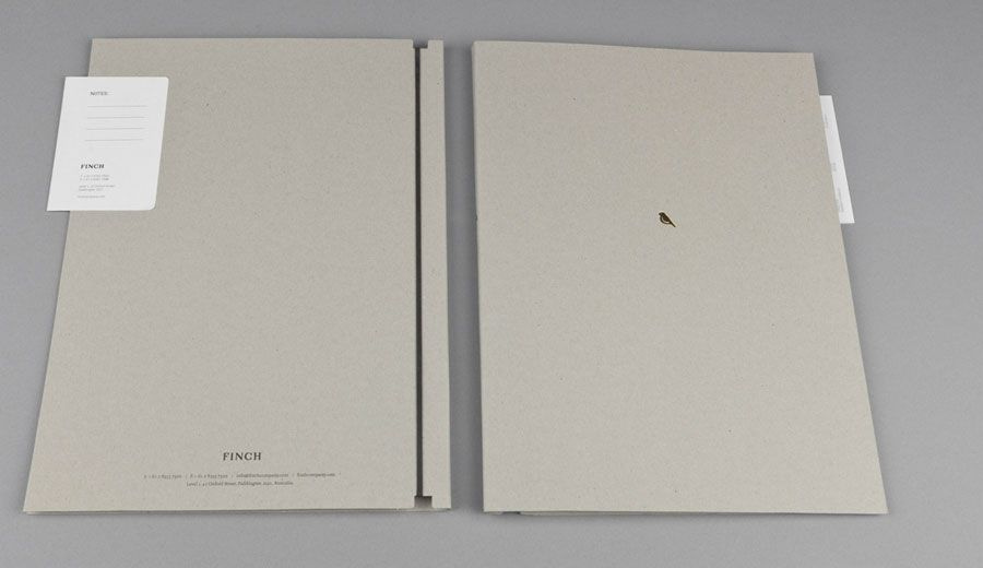 Awesome portfolio idea - minimalist design, gold foil hint - resume on cardstock