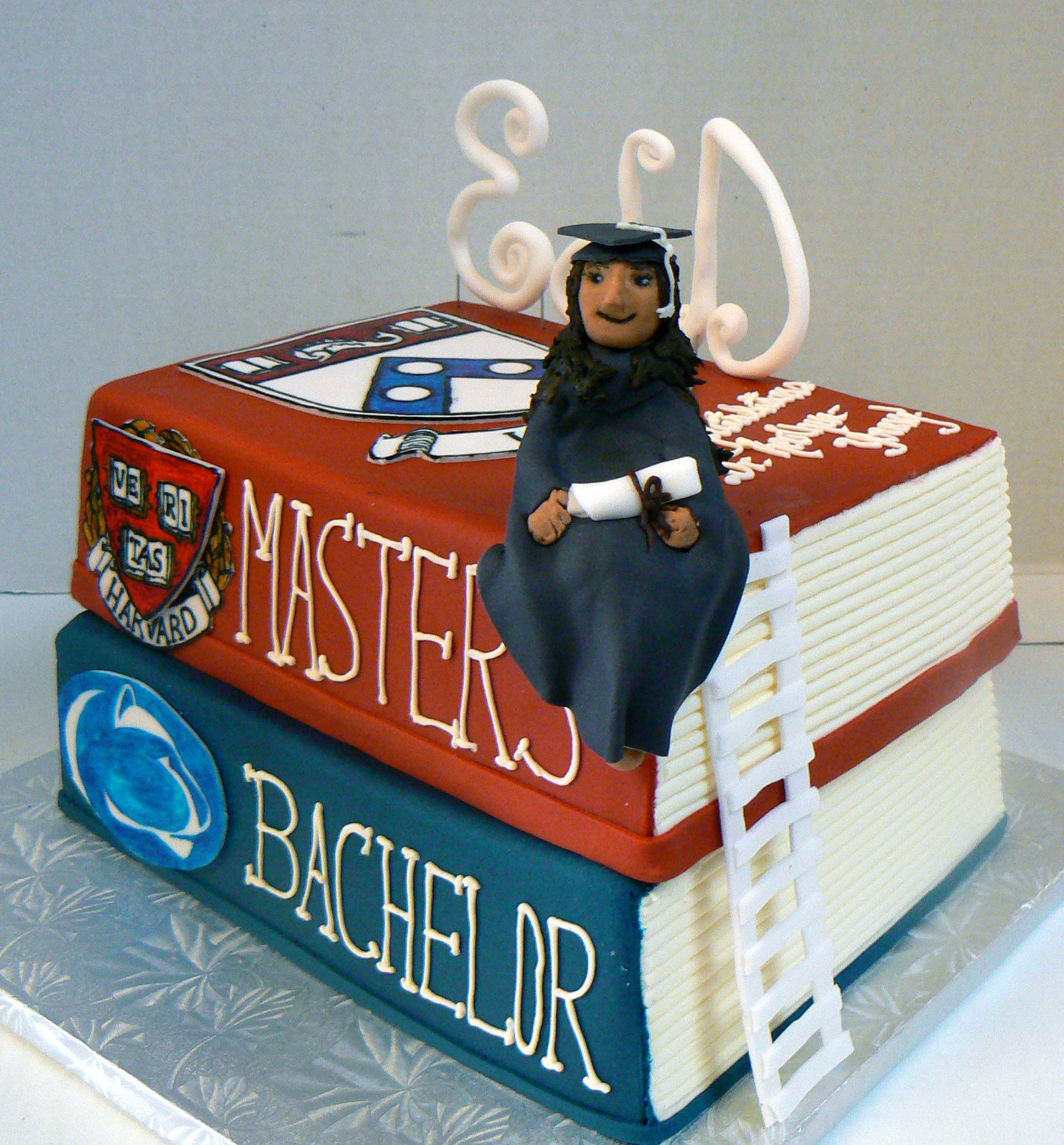 Doctorate Masters Bachelors Graduation Cake With Images