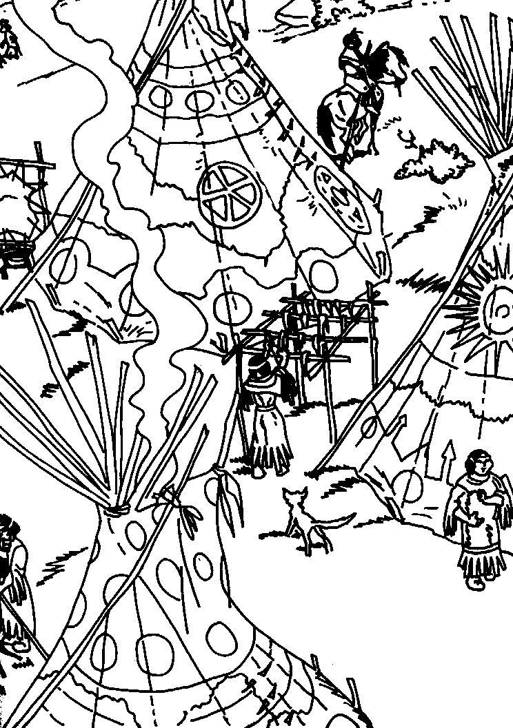 Dibujos para Colorear Yakari 4   Dibujos para colorear para niños ...
