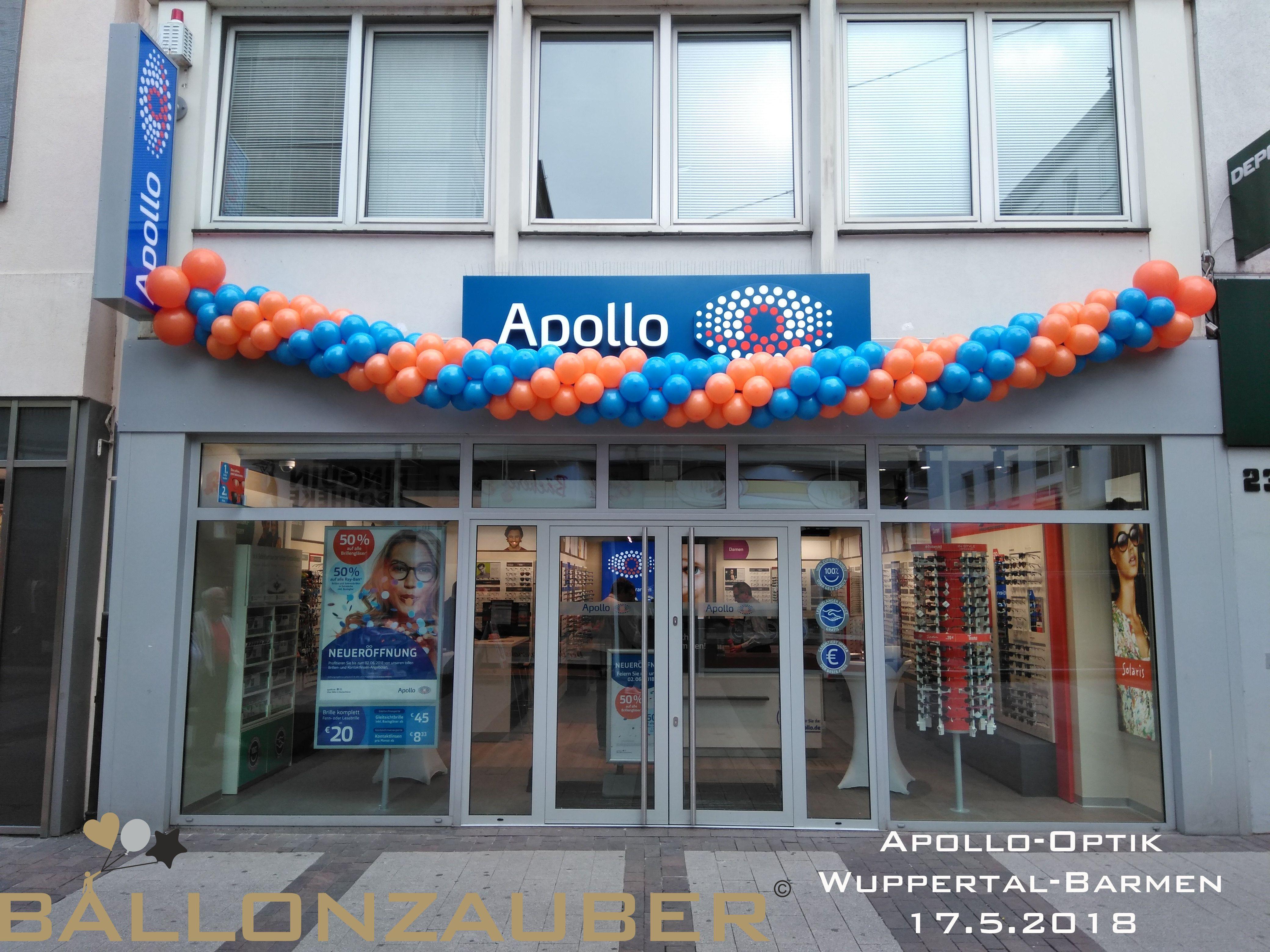 Ballongirlande In Den Firmenfarben Blau Und Orange Fur Die Apollo Filliale In Wuppertal Barmen Ballon Ballondekorationen Ballongirlande Ballon Dekoration