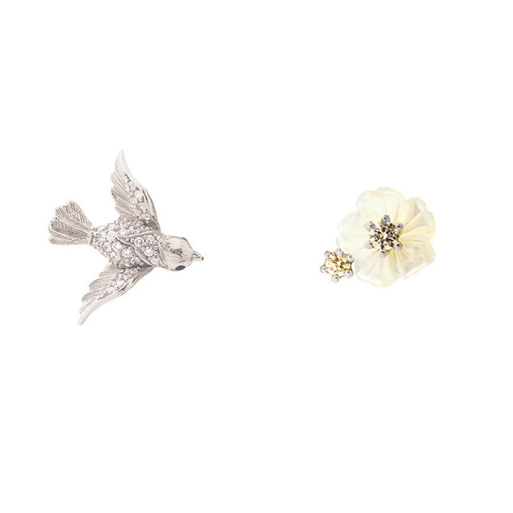 Swallow Mismatch Stud Earrings