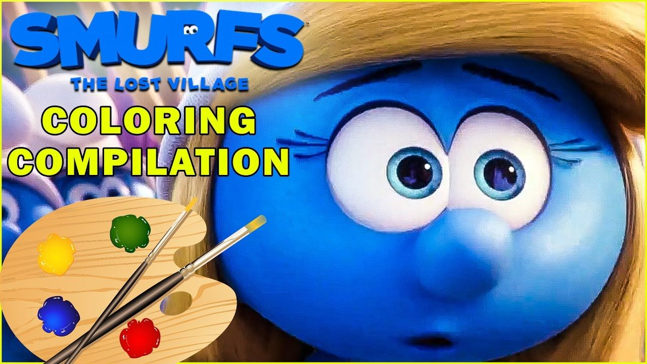 SMURFS: The Lost Village Movie Coloring Pages Compilation | Kids ...
