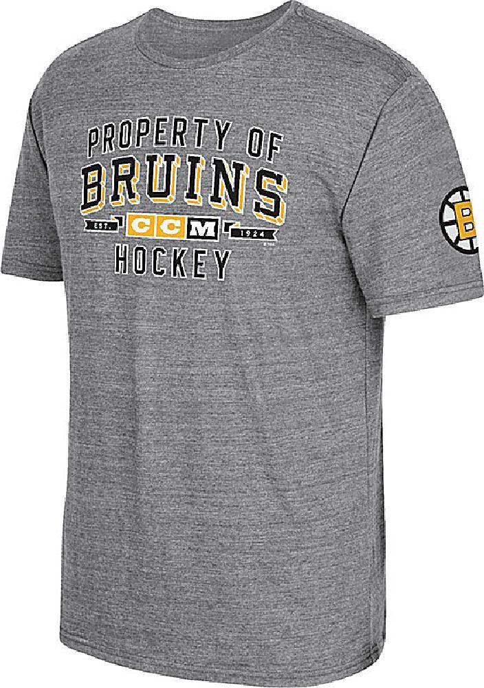 CCM Boston Bruins Grey Mens Property Block Short Sleeve T Shirt $29.95