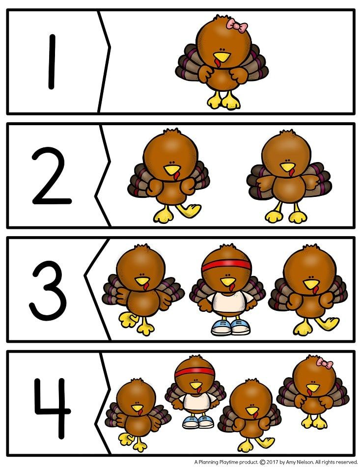 Preschool Thanksgiving Activities | Number puzzles, Thanksgiving and ...