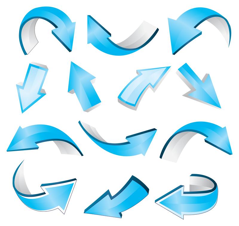 Blue arrows Free Vector Download Vector