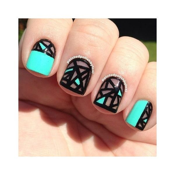 Latest 45 Easy Nail Art Designs for Short Nails 2016 ❤ liked on Polyvore featuring beauty products, nail care and nail treatments