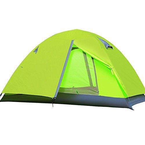 Feeto 2 Person C&ing Tent Lightweight Double Layer Backpacking Compact Tent Green *** See  sc 1 st  Pinterest & Feeto 2 Person Camping Tent Lightweight Double Layer Backpacking ...