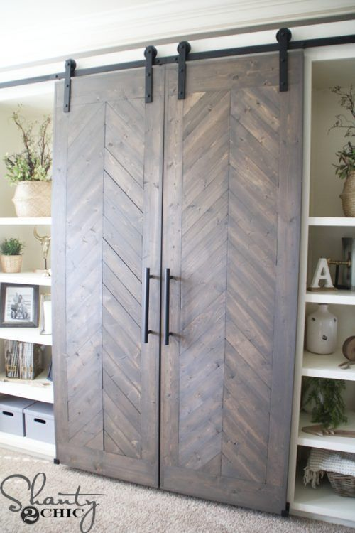 Iu0027m Really Liking This Sliding Barn Door Media Console. Best Part About It?  It Hides The TV!!!