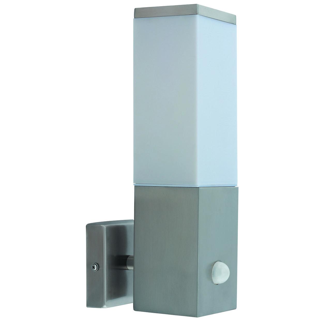 kabul pir stainless steel outdoor pir low energy wall light bulb