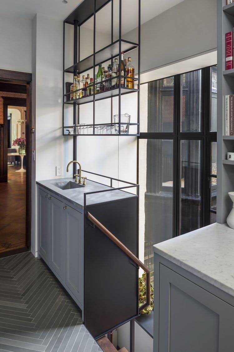 Kickass Alternatives To Traditional Upper Kitchen Cabinets Upper Kitchen Cabinets Bars For Home Modern Home Bar
