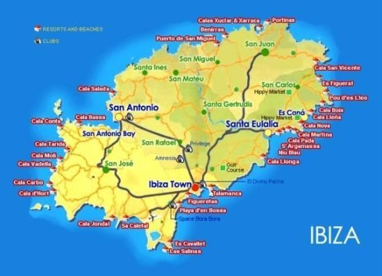Cala Salada Ibiza Mapa.Pin By Sharon Needham On Maps Ibiza Balearic Islands Map