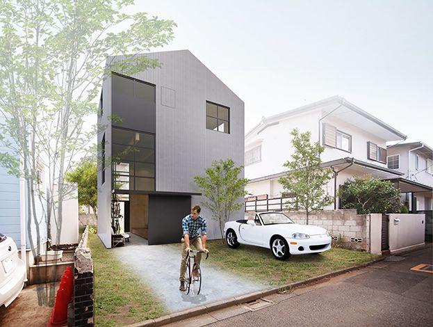 Bento House Project デザイナー 住宅 外観 建築パース