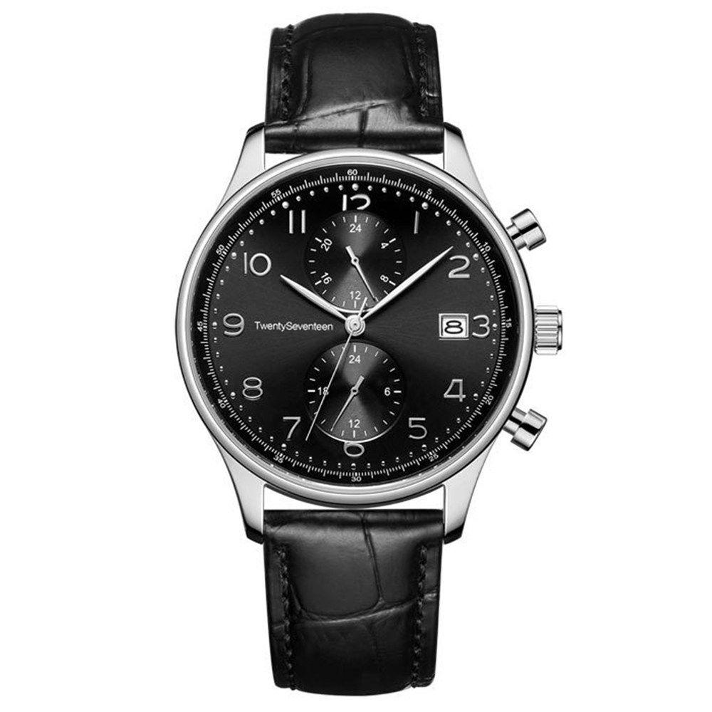 4e7557ec7 Xiaomi TwentySeventeen Men Business Quartz Watch Dual Time Zone 5ATM  Sapphire Surface - Black