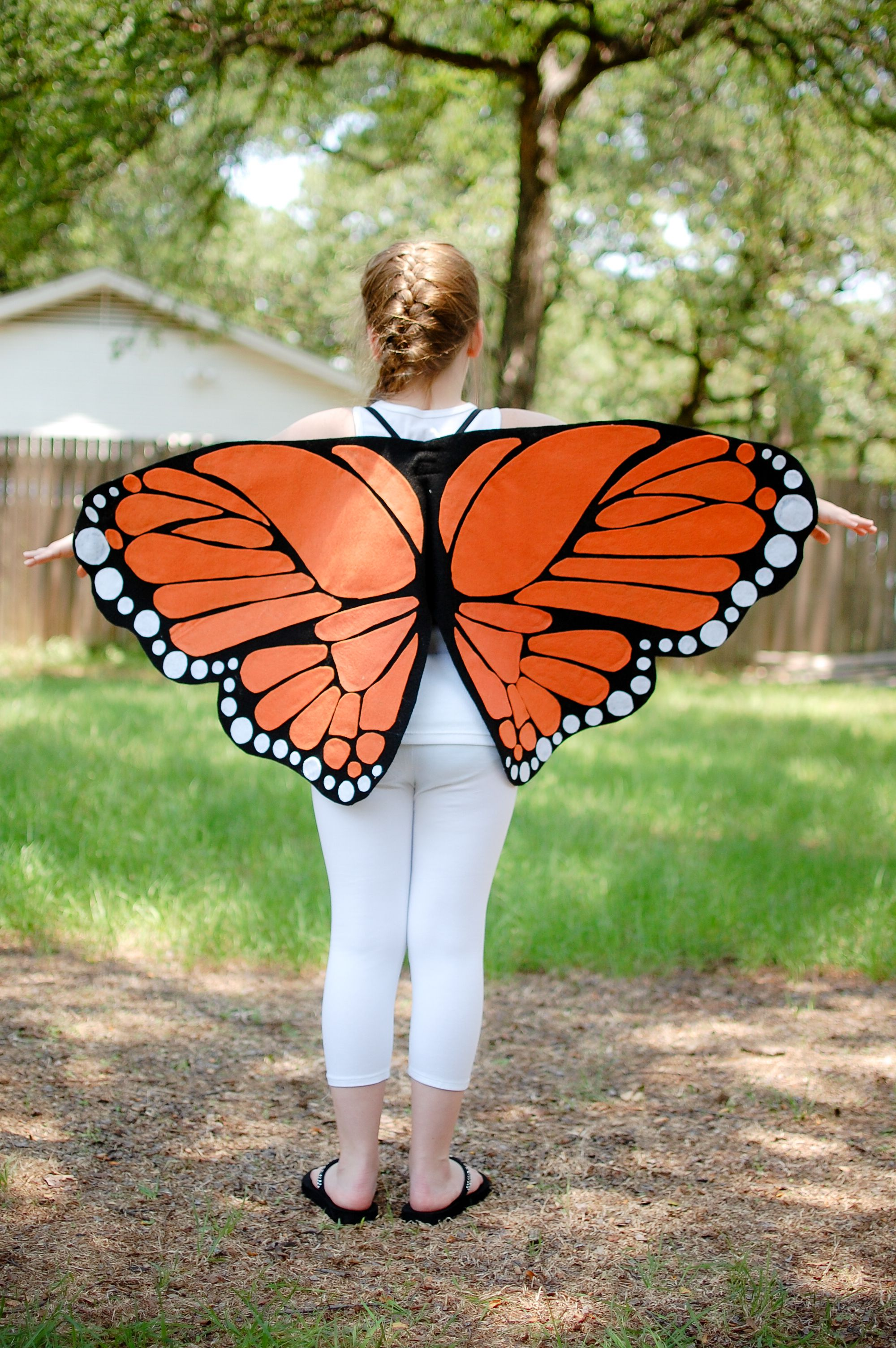 Monarch Butterfly Costume Wings Life Like Kids Age 6