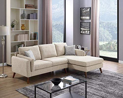 Enjoy Exclusive For Lilola Founders Fabric Sectional Sofa Beige