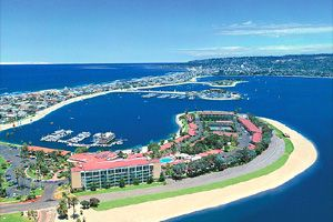 The Bahia Hotel In Mission Bay San Go Is Minutes From Pacific Beach California And Will Wow Visitors Since Whole Resort On Its Own Peninsula