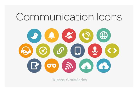 Circle Icons Communication Communication Icon Web Design Icon Icon