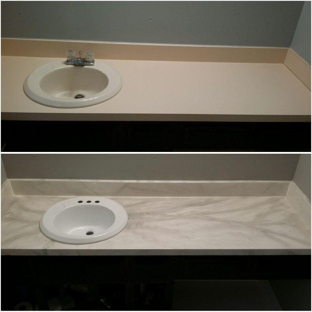 Marble Like Reglazing Tv Decor Tv Stand Wood Sink