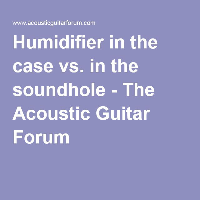 Humidifier In The Case Vs In The Soundhole Humidifier Acoustic Guitar Acoustic