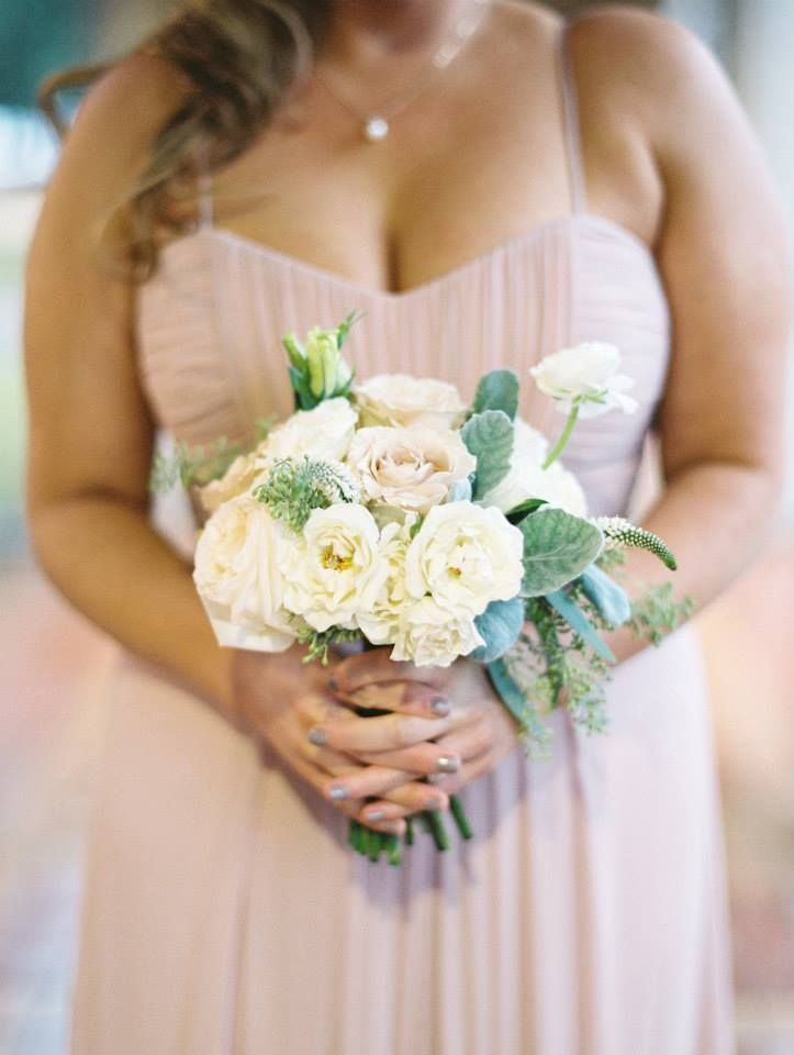 Off White Wedding Flowers Romantic With Greenery Pastel Bouquet