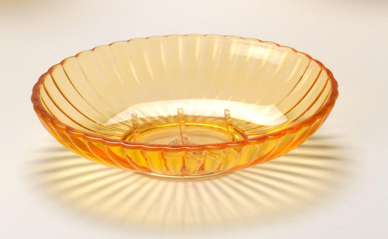 Ribbed Acrylic Bath Accessories, Orange