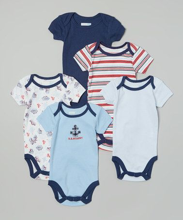 43f74808f Look at this  zulilyfind! Blue  S.S. Mommy  Bodysuit Set - Infant by ...