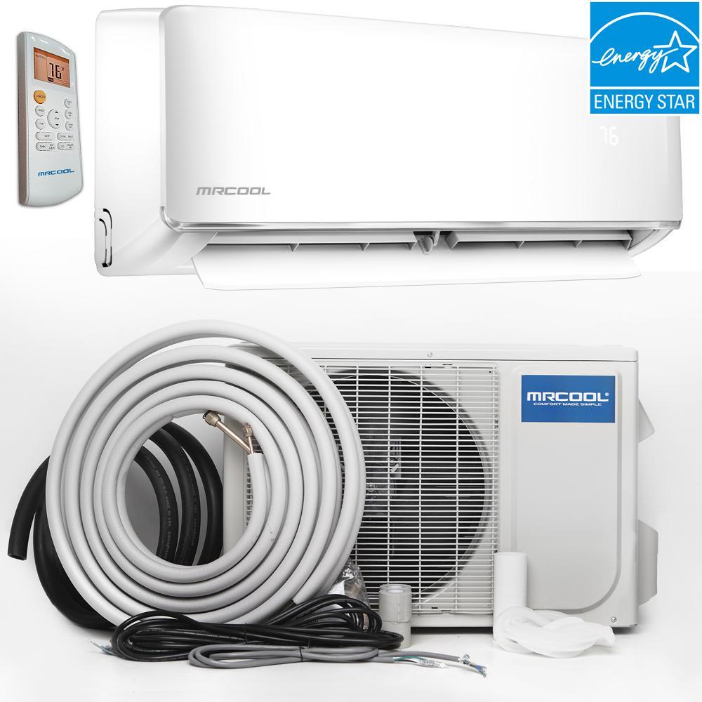 Mrcool Oasis Energy Star 24 000 Btu 2 Ton Ductless Mini Split Air Conditioner And Heat Pump 230 Volt 60 Hz O Es 24 Hp 230 Ductless Heat Pump Heat Pump System Heat Pump