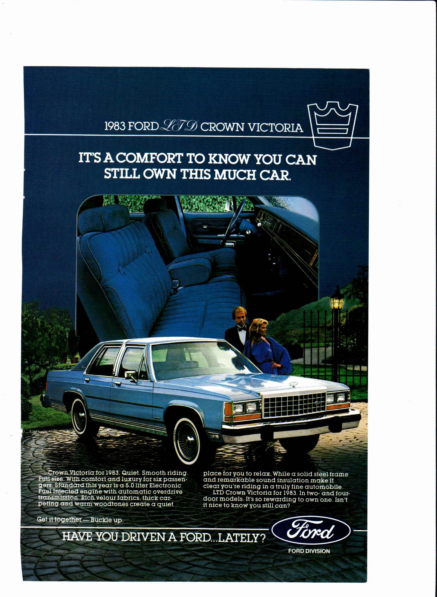 1983 Ford LTD Crown Victoria ad National Geographic, February 1983 ...