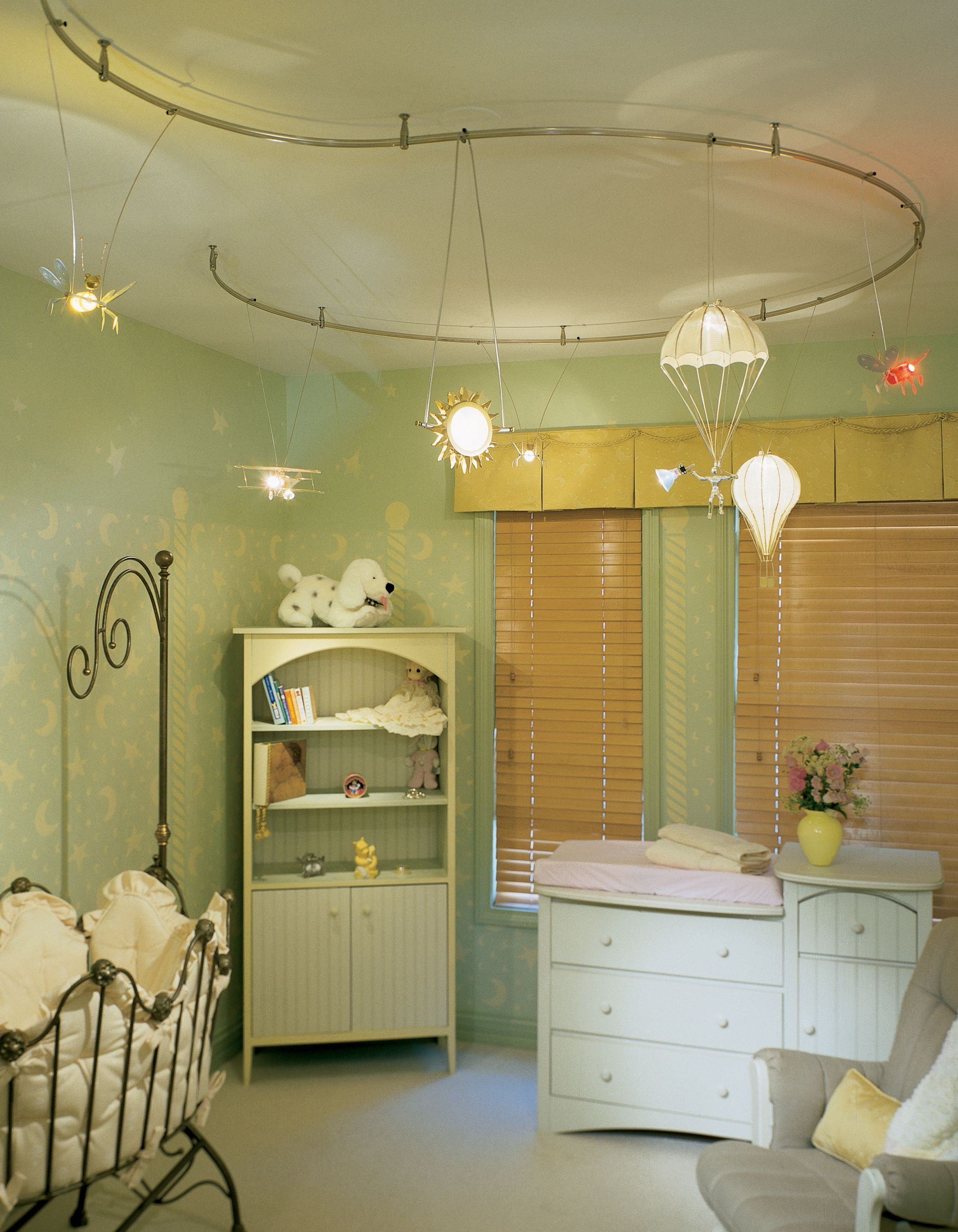 Monorail Lighting In A Nursery