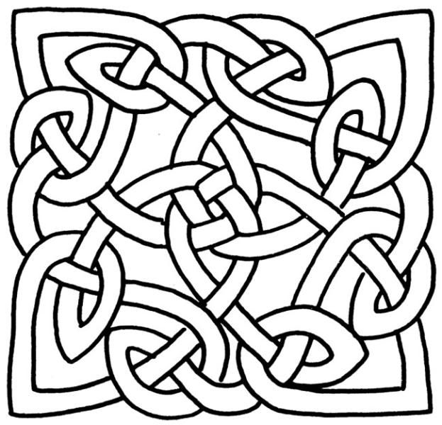 Coloring pages celtic knot image by tharens for Celtic coloring pages printable