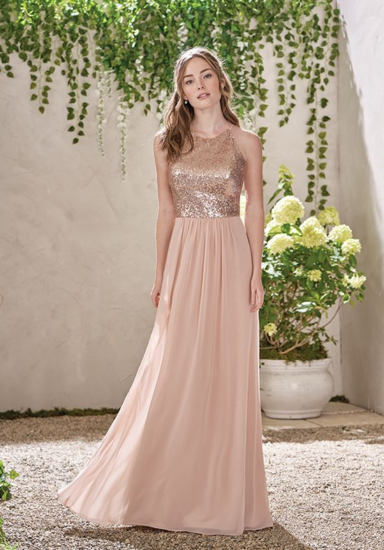 Pin by The Knot on Bridesmaid Dresses | Pinterest | Peach bridesmaid ...