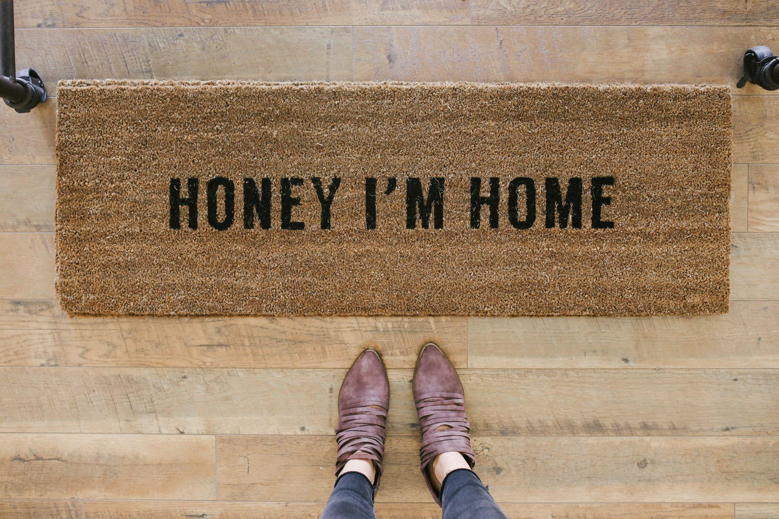 Honey I'm Home Mat ROOLEE Door mat, Home, Sweet home