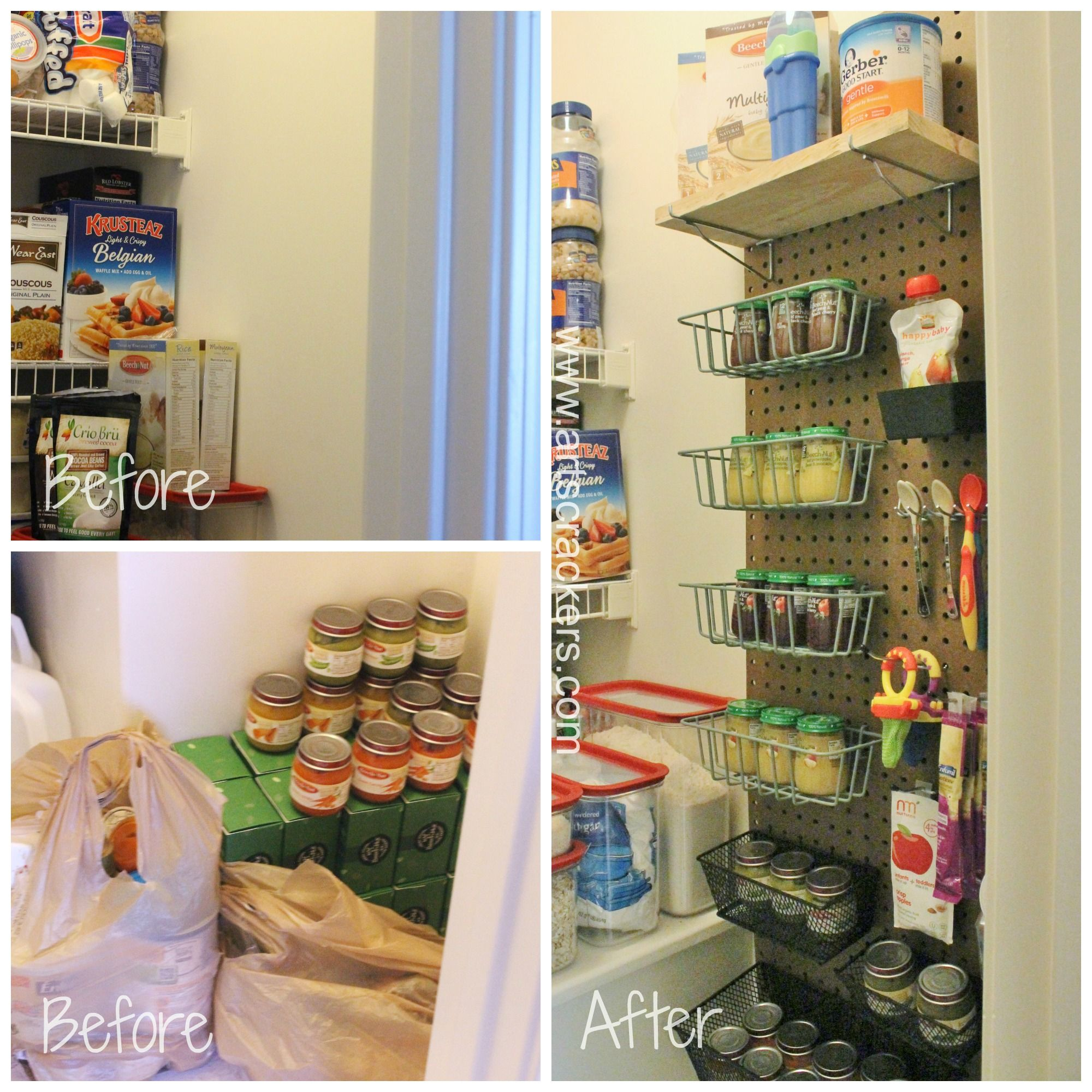 Pegboard Pantry Organizer Before And After