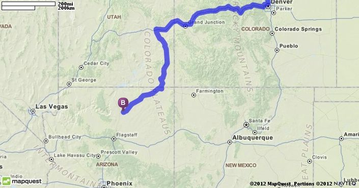 Mapquest Arizona.Driving Directions From Fort Collins Colorado To Tuba City Arizona