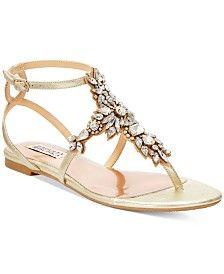 90fec2bf7a2 Badgley Mischka Cara II Evening Flat Sandals