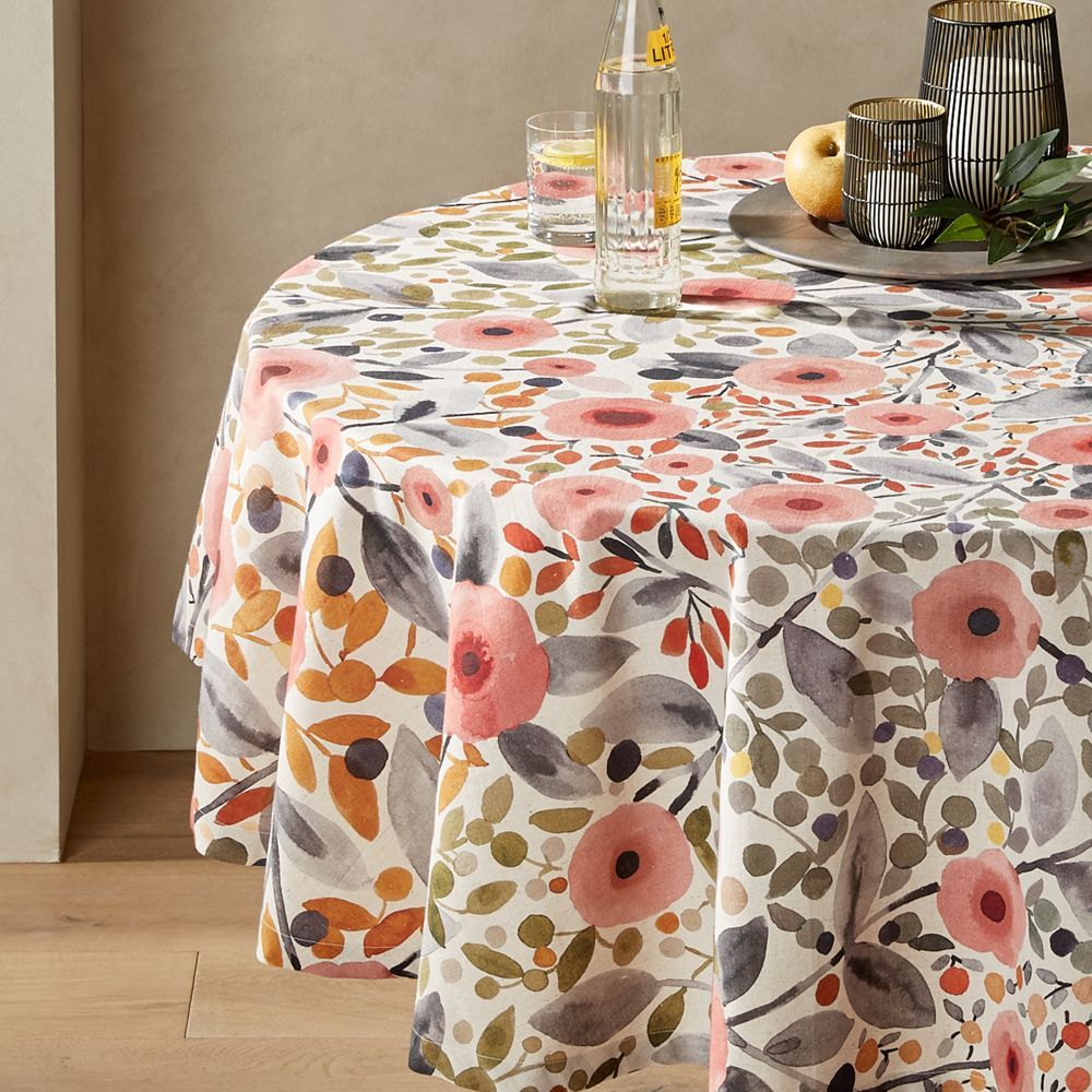 Nicoya 60 Round Multi Floral Tablecloth Floral Tablecloth