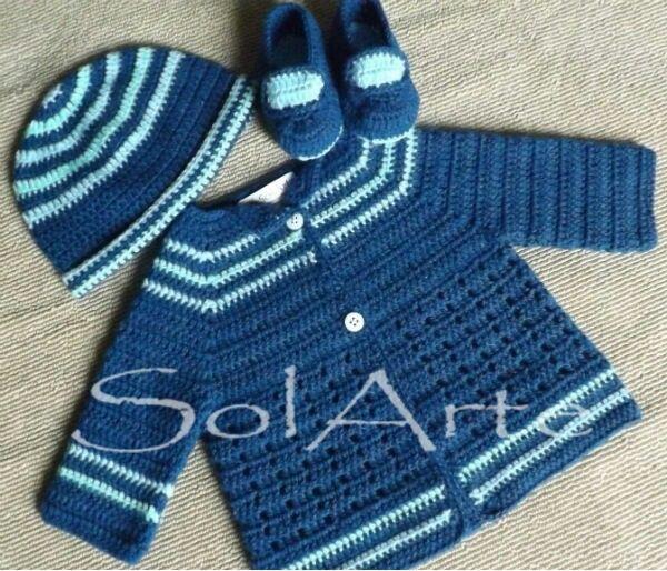 bb708e914 Ajuar varón. Crochet bebe. Ropita de bebe. | Solarte | Ropa bebe ...