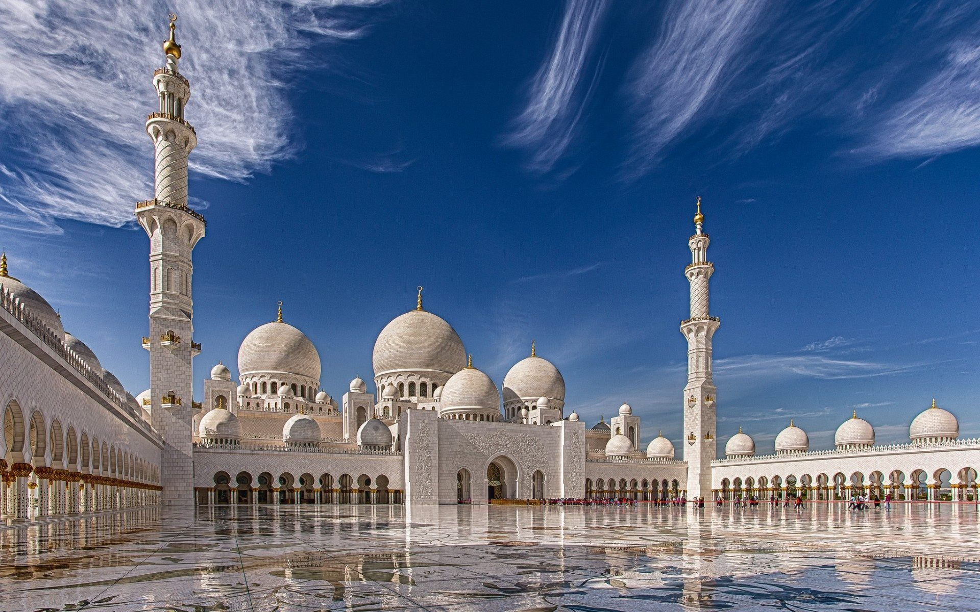 Full HD Sheikh Zayed Grand Mosque Abu Dhabi Desktop Wallpaper Download Free  For Widescreen, Mobile