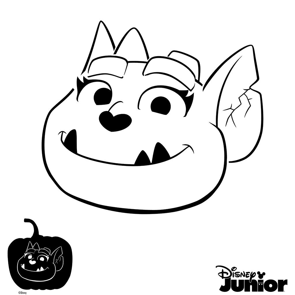 vampirina pumpkin template  Pumpkin Stencil Vampirina Coloring Page | Disney pumpkin ...