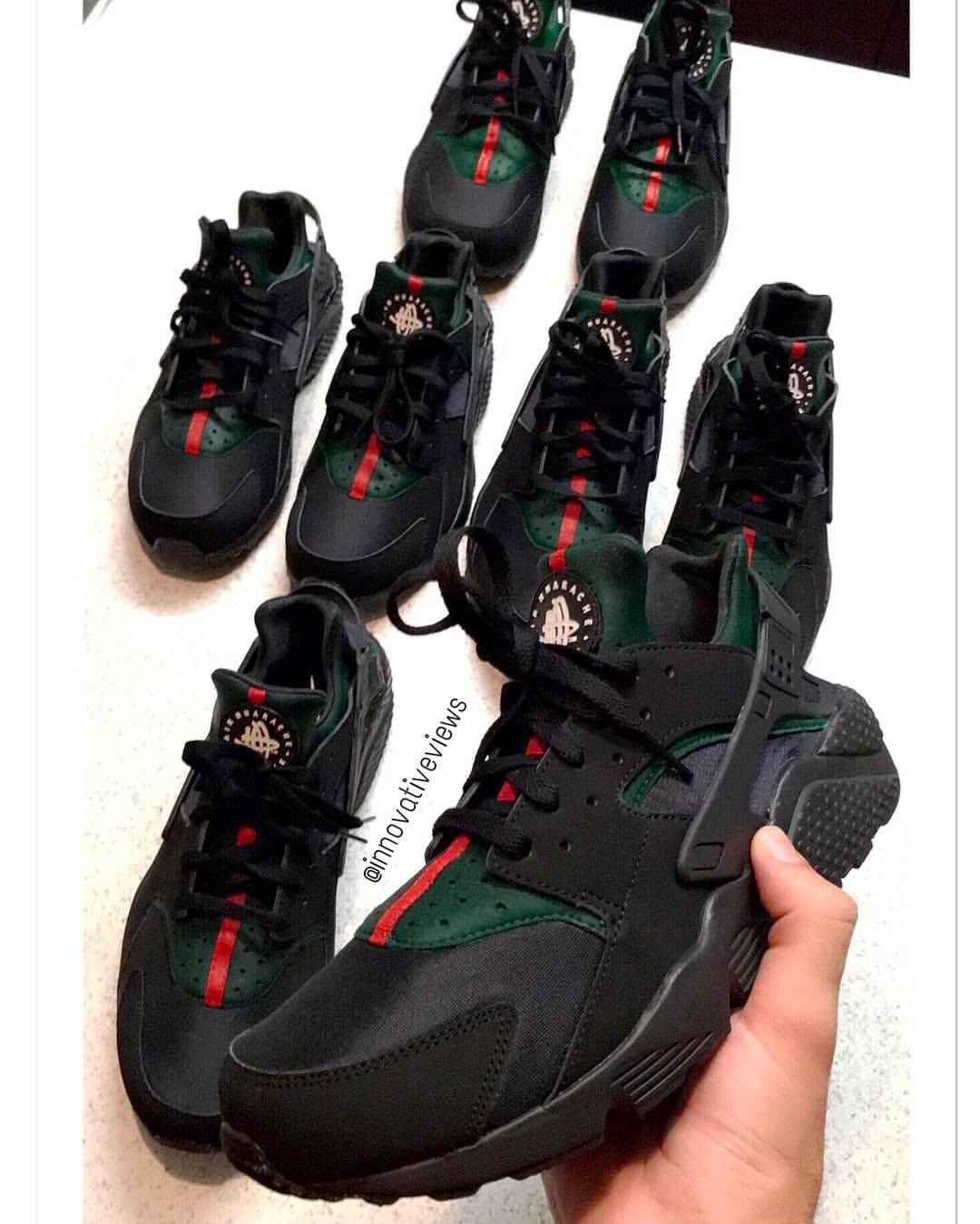Custom Gucci Huarache Trainers