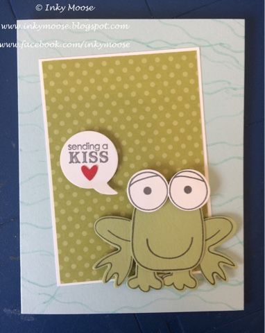 A Frog Prince for Valentines using 'Playful Pals' from Stampin' Up!