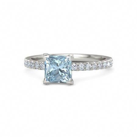 beautiful aquamarine engagement ring! I love this!