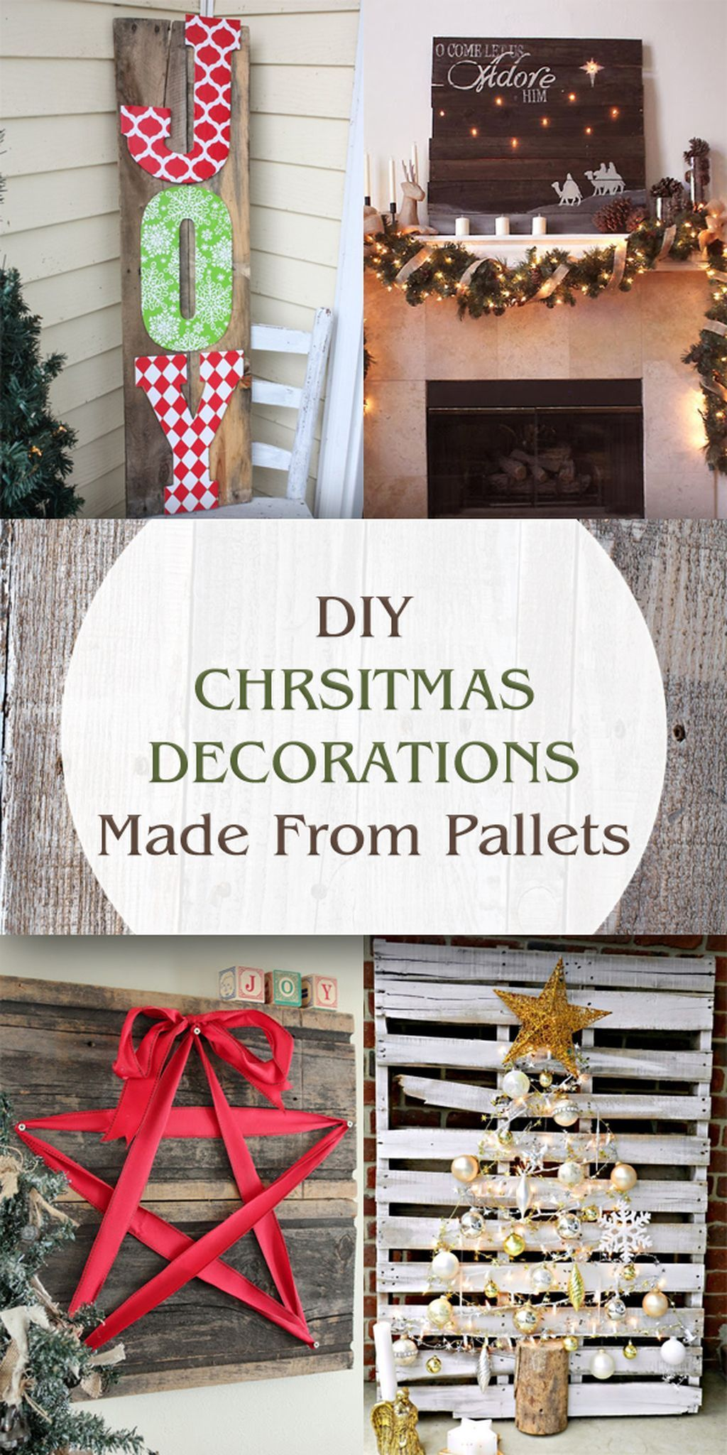 45 Creative and Easy DIY Christmas Greeting Pallet Project | Pallet ...