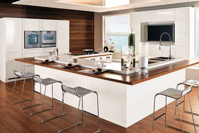 Cuisine avec lot central des mod les de cuisines avec - Modele cuisine avec ilot central table ...
