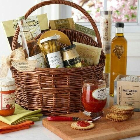 Gourmet gift basket coming home food pinterest gourmet gifts could do cheese wine and crackers make a customized gift basket for the foodie in your life start by finding a beautiful basket you love and add in negle Choice Image