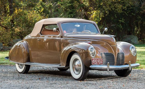 1938 Lincoln Zephyr Convertible Coupe Classic Cars