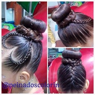 peinadoscolorin's Instagram photos | Pinsta.me - Explore All Instagram Onlinebraid bun