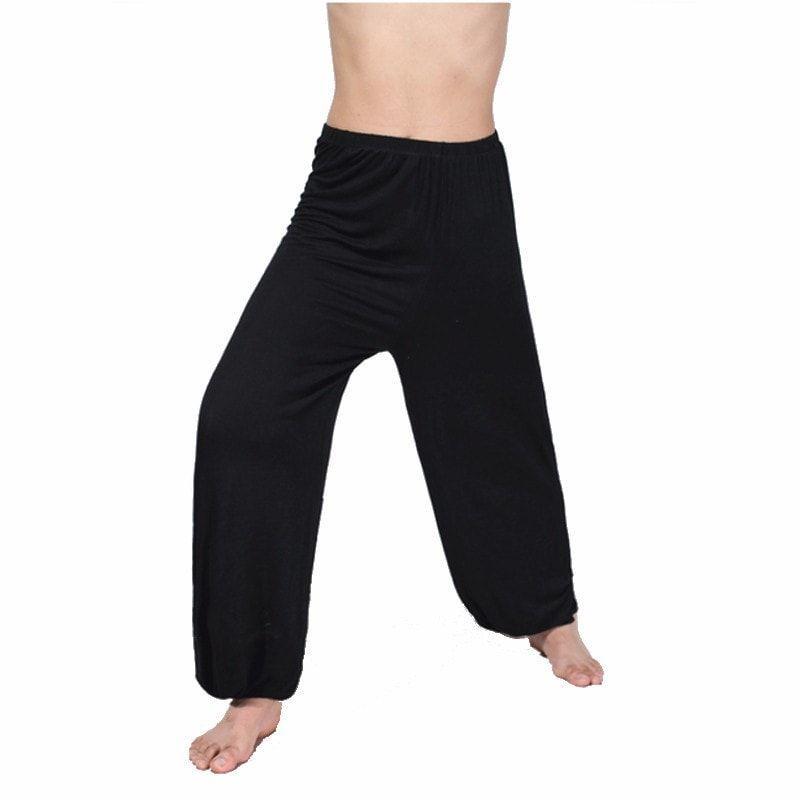 Men's Casual Loose Fitting Elastic Waist Sports/Dance/Yoga Pants (L-3XL) - 4 Colors