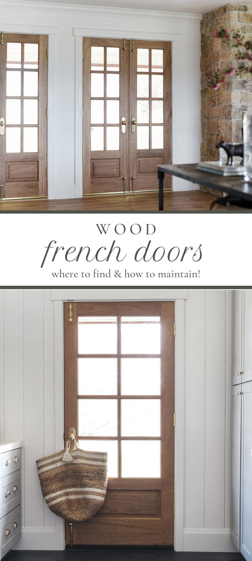 All About Our Wooden French Doors Boxwood Ave Wood French Doors Wooden French Doors French Doors Exterior