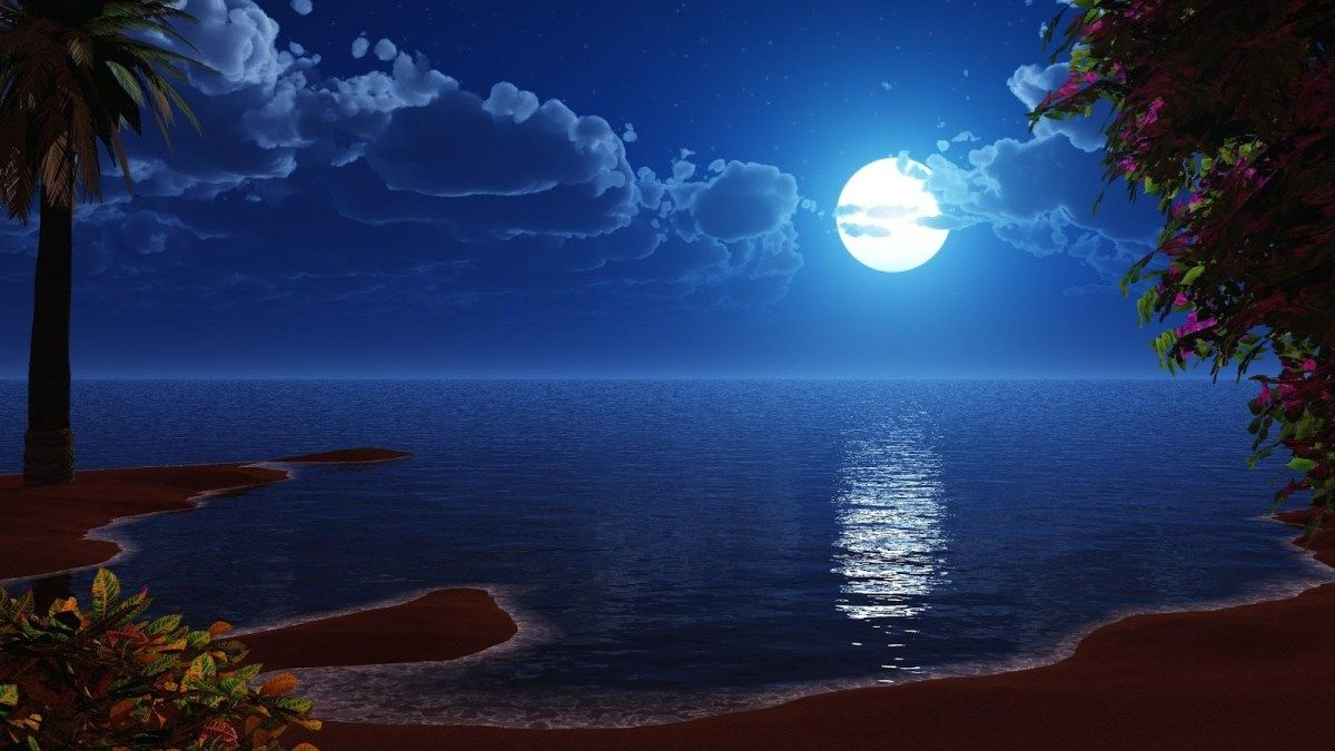 4k Ultra Hd Moon Wallpapers Full Moon Free Hd Wallpapers Ocean At Night Beach At Night Beach Night